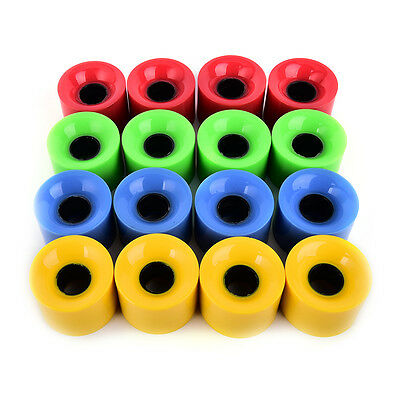 4pcs/set 59 x 45mm long board wheel high strength skateboard wheels multicolor !