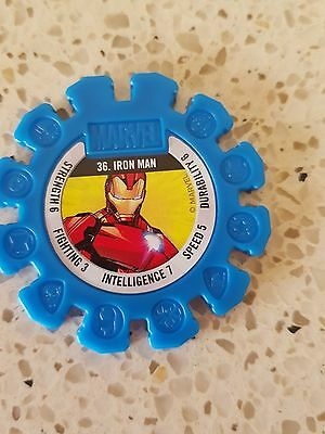 Woolworths Marvel Heroes rare discs #36 IRON MAN 36