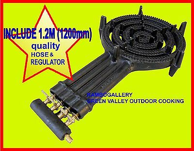FREE PICK UP FREE1.2M Hose 4 Ring Wok Burner BBQ Cooker LPG Gas Portable Cooktop