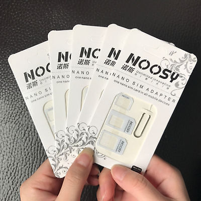 New 5pcs Nano SIM Card to Micro Standard Adapter Converter For iPhone Samsung