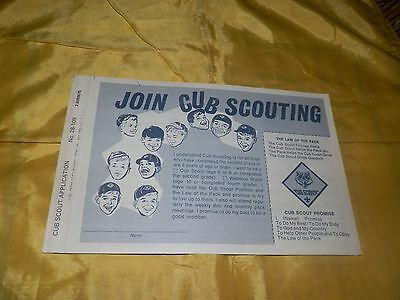 Unused 1975 dated Unused Application to Join Cub Scouting