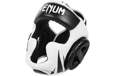 Venum Challenger 2.0 MMA Headgear Boxing Head Guard Gear Black/White