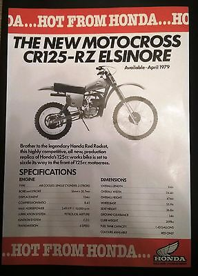 "Honda Vintage Brochure ""Hot From Honda"" CR125-RZ Elsinore - 1980"