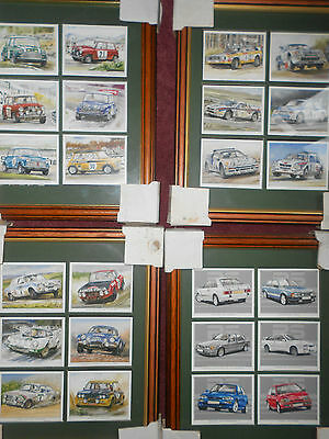 Rallying and Racing card sets Coopers 60's, Ford RS , Rally cars 70's and 80's