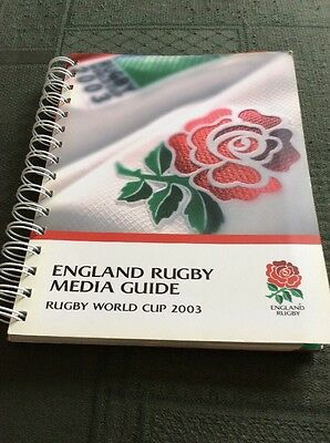 England Rugby Media Guide World Cup 2003