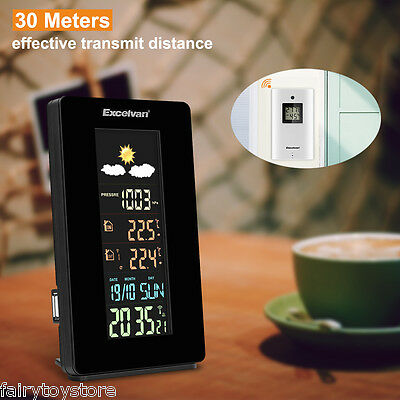 COLOR Wireless Weather Station Forecast Temperature Humidity Outdoor&Indoor EU
