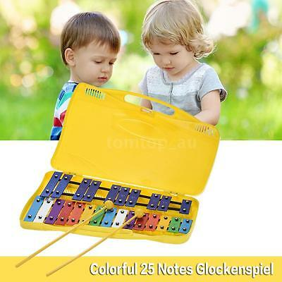 25 Notes Glockenspiel Xylophone Percussion Rhythm Musical Instrument Toy Z7R0