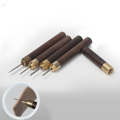 3/4/5/6mm Leathercraft Stitching Sewing Awl Set for Sewing Leather Diamond Point
