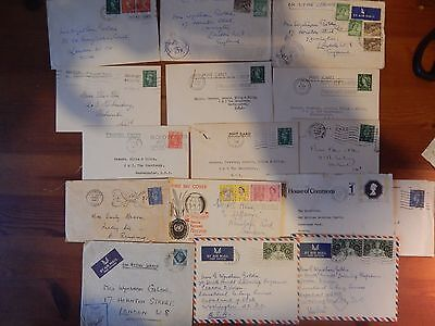 "Small Lot Of Letter And Card Fronts Inc ""on Active Service Censored"" 13 In Total"