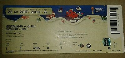 Ticket 2017 Fifa Confed Cup # Germany - Chile Deutschland DFB 22.06.17 MINT
