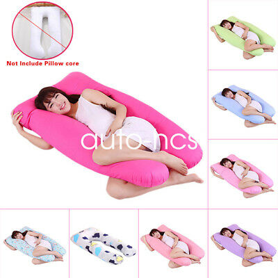 Pregnancy Arm Body Sleeping Pillow Case Covers Sleep U Shape Cushion Cover
