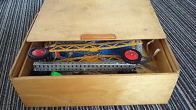 Vintage Meccano in Wooden Box Huge Quantity Assortment Joblot Collection