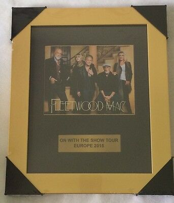 Fleetwood Mac On With The Show Tour Europe 2015 Framed Mounted Print Memorabilia