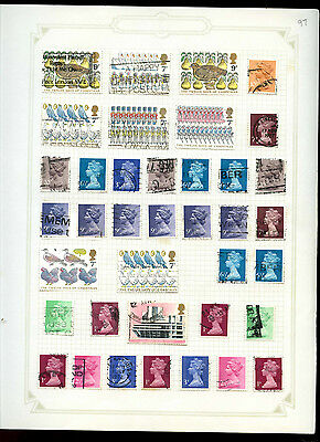 GB Album Page Of Stamps #V5190