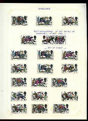 GB 1966 Battle Of Hastings Album Page Of Stamps #V5175