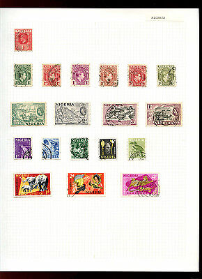 Nigeria Album Page Of Stamps #V5018