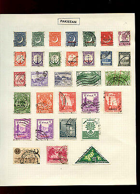 Pakistan Album Page Of Stamps #V5025