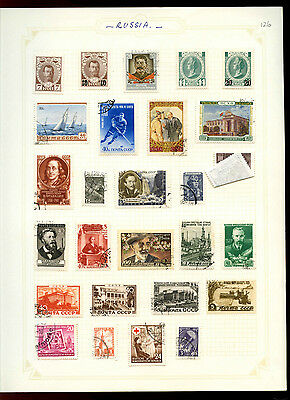 Russia Album Page Of Stamps #V5053