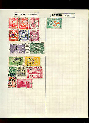 Phillippines Album Page Of Stamps #V5027