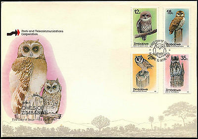 Zimbabwe 1987 Owls FDC First Day Cover #C42109