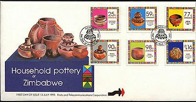 Zimbabwe 1993 Household Pottery FDC First Day Cover #C42081