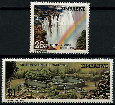 Zimbabwe 1986 SG#698-9 Non-Aligned Summit Conference MNH Set #D50841