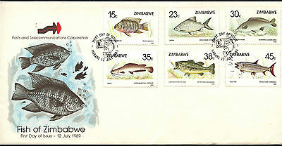 Zimbabwe 1989 Fishes FDC First Day Cover #C42091