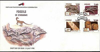 Zimbabwe 1998 Fossils FDC First Day Cover #C42115