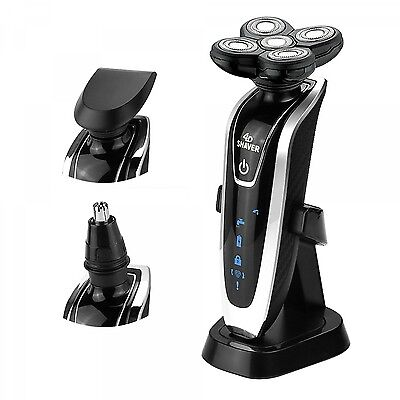 New 4D Floating 3in1 Waterproof Electric Shaver Travel Nose Trimmer Razor Man