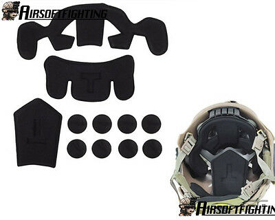 Internal Protection Cushion Pad+Loop for EXF Style Fast Jump Military Helmet A