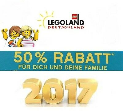legoland g nzburg 50 gutschein f r 4 personen rabatt bis 31 12 2017 eur 6 95. Black Bedroom Furniture Sets. Home Design Ideas