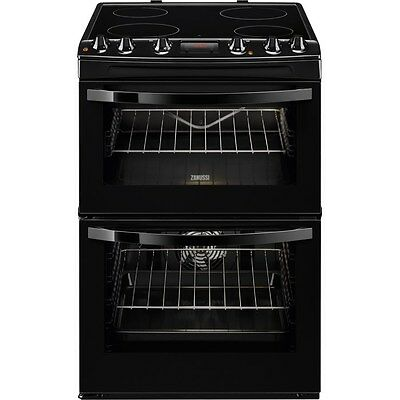 ZANUSSI ZCV664FPB 60cm Electric Ceramic Cooker in Black
