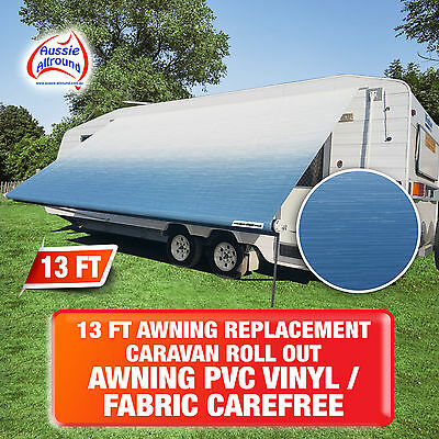 NEW 13 Ft Awning Replacement Caravan Roll Out Awning PVC Vinyl / Fabric Carefree