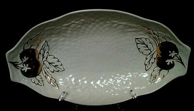 "CROWN DEVON  ""Gold Apples and Leaves""  Large Serving Bowl.  Excell. Cond."