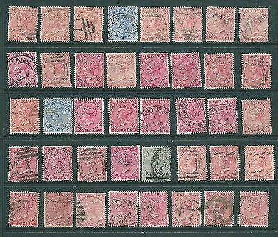 BERMUDA - Queen Victoria stamp collection - unchecked shades, postmarks, variety