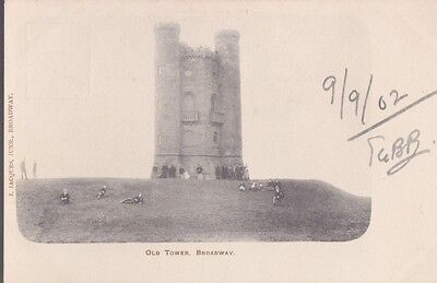 RA 37a rare old uncirculated vintage postcard  OLD TOWER BROADWAY