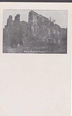 RA 35b rare old uncirculated vintage postcard  #1 BERRY POMEROY CASTLE