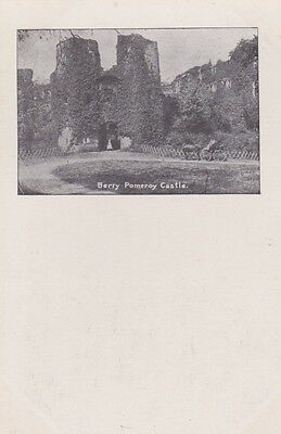 RA 36a rare old uncirculated vintage postcard  #2 BERRY POMEROY CASTLE