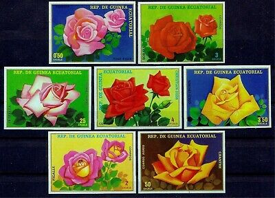 Equatorial Guinea 1979 Flowers Roses Plants Nature Horticulture 7v Imperf MNH
