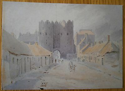 St Lawrence's Gate Card Drogheda Co Louth Artist George Petrie Ireland