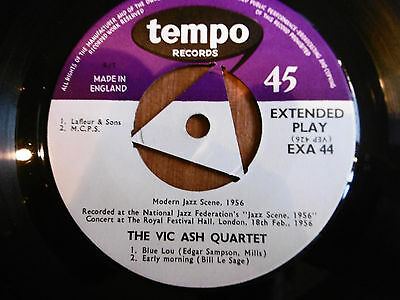 Vic Ash Quartet ‎– At The Royal Festival Hall - Rare :  Tempo Records – EXA 4