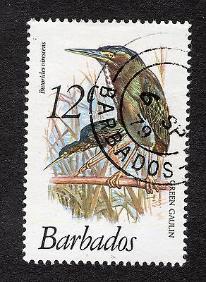1979 Barbados 12c Green backed heron SG627 FINE USED R31088