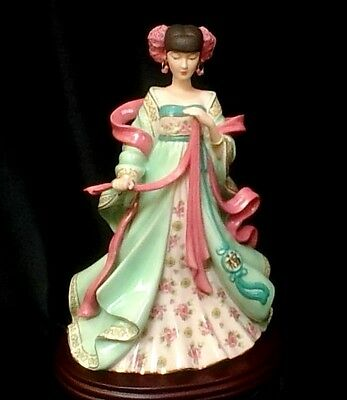 """""""MAIDEN OF FORTUNE""""   24cm OR 9.5 inches   Danbury Mint   Excellent Condition."""