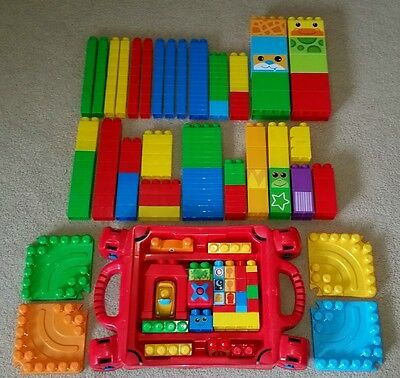 Mega Bloks Megabloks Megablocks Build 'N Learn table bulk lot approx 250 pcs 7kg