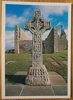 Clonmacnoise Cross of Scriptures Large Postcard Co. Offaly