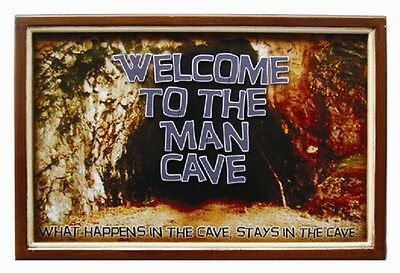 Wooden Welcome to The Man Cave 3D Art with FREE shipping