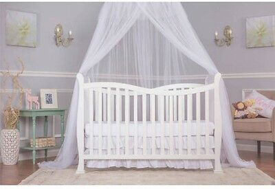 7-in-1 Dream on me Infant Baby White Convertible Crib Toddler Kid Sleeping Bed