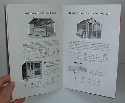 ** VINTAGE 1960s DOG KENNELS CATALOGUE - PRICES IN POUNDS SHILLINGS + PENCE  **