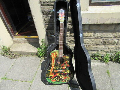 Vince Ray's Spookshow Fender Electro-Acoustic Guitar W Hard Case - Mint