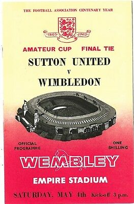 Sutton United vs. Wimbledon FC (Amateur Cup final 1963)